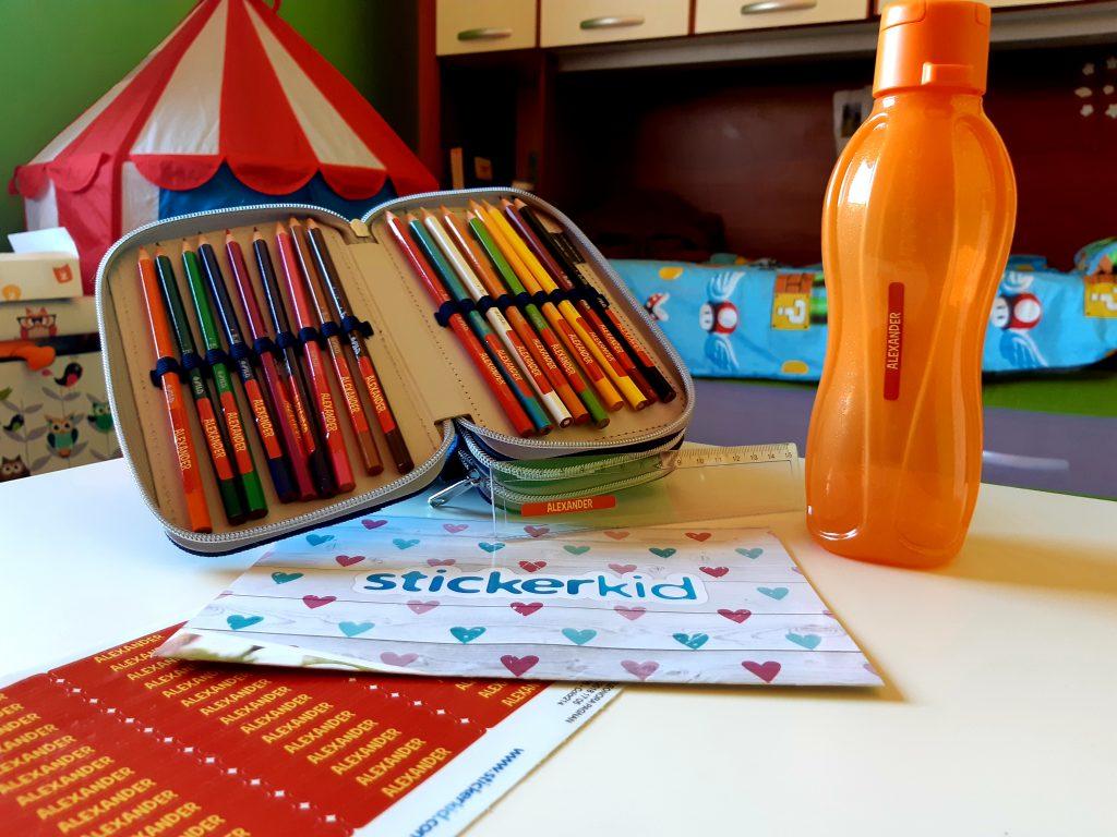 etichette per pennarelli e matite